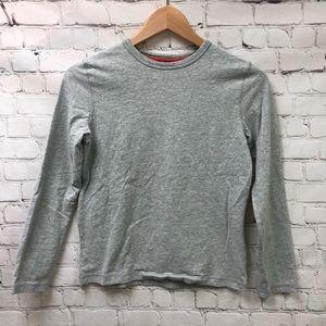 Boden Long Sleeve Crewneck Gray T Shirt Sz 11-12Y
